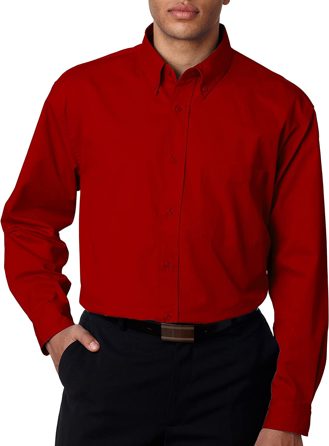 Ultraclub 8975T UC Whisper Twill Wovens - Red - XX-LargeT