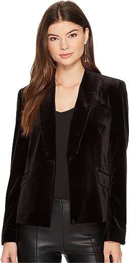 1.STATE - Velvet Tuxedo Blazer