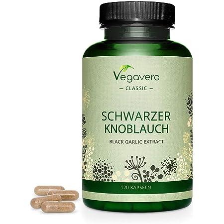 Ail Noir Vegavero® | Antioxydant Puissant 100% Naturel | Sans Additifs & VEGAN | Testé en Laboratoire | Ail Inodore et Digestible | Qualité Supérieure | 120 Gélules