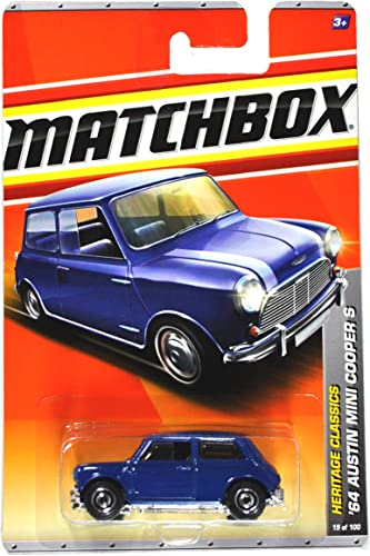 Mattel Year 2010 Matchbox MBX Heritage Classics Series 1 64 Scale Die Cast Car  19 - Navy Blau '64 AUSTIN MINI COOPER S (T8904) by Matchbox