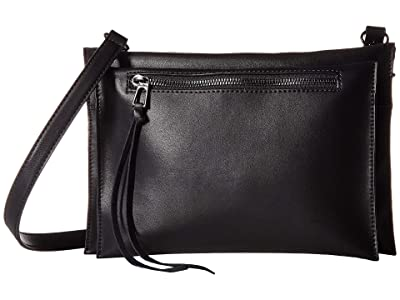 Sam Edelman Maisie Passport Crossbody (Black Leather) Handbags