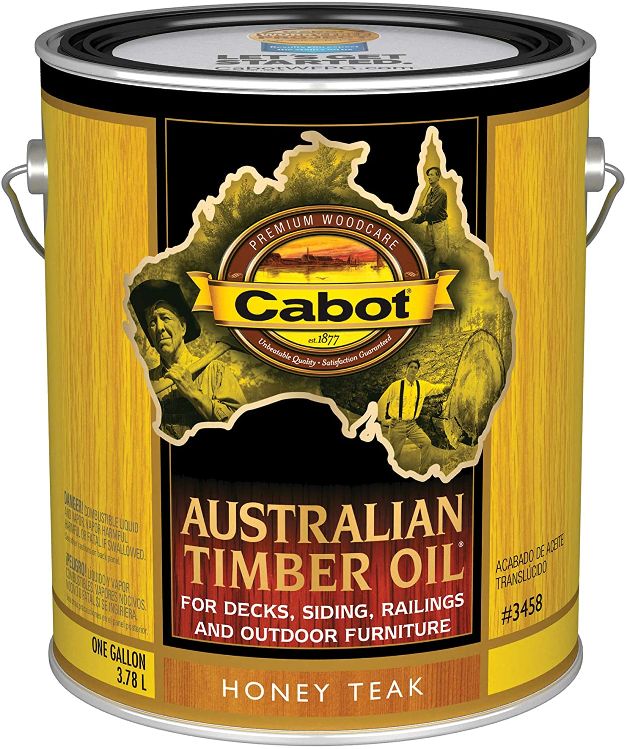 Cabot 140.0003458.007 Popular standard Australian Challenge the lowest price of Japan Timber Stain Honey Oil Gallon