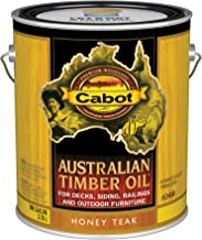 Cabot 140.0003458.007 Australian Timber Oil Stain, Gallon, Honey Teak