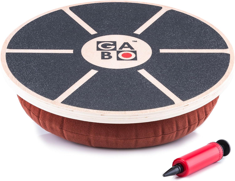 GABO Board - Infinitely Adjustable Wobble Balance Trainer - Free eBook - Improve Your Balance Improve Your Life