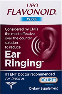 Lipo-Flavonoid Plus Ear Health Supplement | 100 Caplets | #1 ENT Doctor Recommended for Ear Ringing | Most Effective Over the Counter Tinnitus Treatment