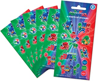 Paper Projects 01.70.15.039 PJ maski torba imprezowa pakiet naklejek (6 arkuszy), 12,5 cm x 7,5 cm