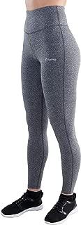 Aimo Gray High Waisted Workout Leggings - Soft Yoga Pants - Leggings Running