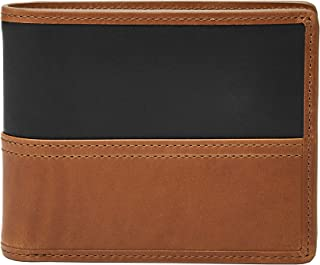 Men's Large Coin Pocket Bifold, Tate- Cognac, One Size