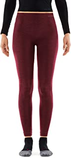 FALKE Damen Long Tights Wool Tech, Leggings mit Merinowolle, atmungsaktive Funktionswäsche zum Skifahren, Schneewandern, Sport, 1 Paar
