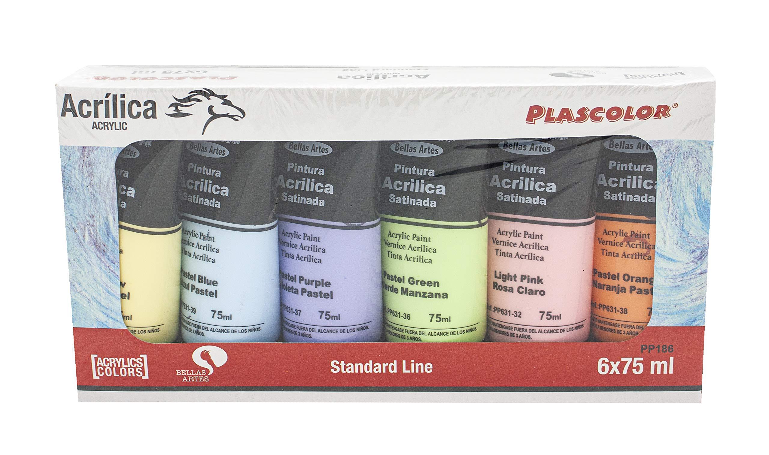 Pinturas acrílicas Pastel, amplia gama de colores. Tubos de ...