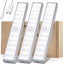 Meromore Draadloze onder kastverlichting, 30-LED bewegingssensor nachtlampje, USB oplaadbare onder kast keukenverlichting ...