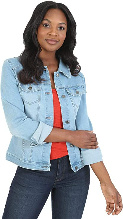 Riders by Lee Indigo Casual blue jean jacket for women | Light blue classic denim jacket | Perfect staple for wardrobe
