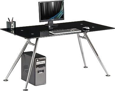 My_office Mega Scrivania, Nero, 150x80x76 cm
