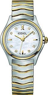 EBEL Ladies 1216197 Wave 18K Gold & Steel Swiss Quartz Watch