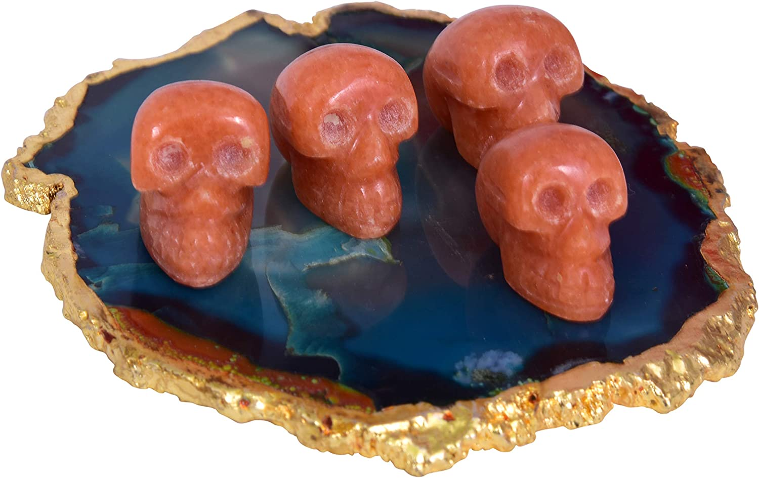 Carnelian Sales Stones Carved Skull Statue Healing Crystal Figu Pocket Free Shipping New