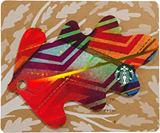 Starbucks Gift Card Collectible 2016 Die Cut Orange Fall Leaf Metallic Multicolor No Value Limited Edition