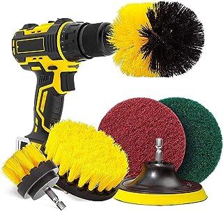 6 Piece Drill Brush Attachment Set, HOME-MART Cleaning Brush Drill Attachment Electric Drill Brushes Power Scrubber Drill ...