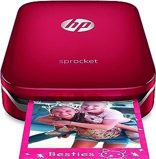 HP Sprocket-Impresora fotográfica portátil (impresión sin tinta Bluetooth 5x 7.6cm impresiones) color rojo