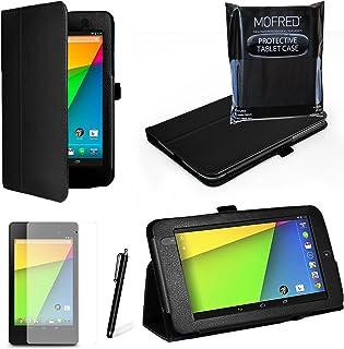 Specialförpackat Executive multifunktionsstandbyfodral med inbyggd magnet för sömn/väckningsfunktion för Google Nexus 7 su...