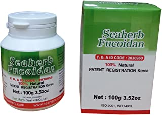 100% Natural Brown Seaweed Extract SEAHERB Fucoidan USFDA Passed (US FDA ID Code 2030950) (100g/bottle, Powder)