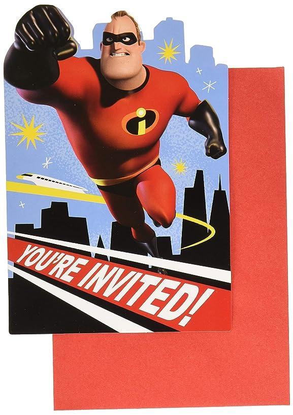Amscan Disney/Pixar Incredibles Postcard Invitations, Party Favor, Standard, Multicolor
