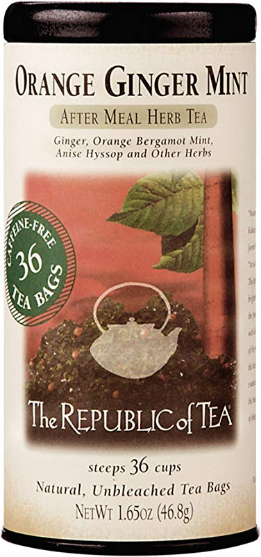 The Republic Of Tea Orange Ginger Mint Tea 36 Count