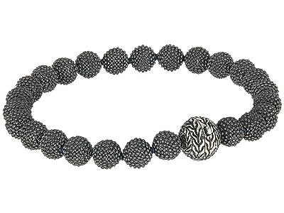 John Hardy Chain Jawan 8mm Bead Bracelet (Blackened Silver) Bracelet