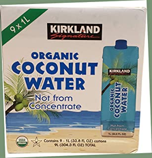 KIRKLAND SIGNATURE カークランドシグネチャー オーガニック ココナッツウォーター 1L x 9本