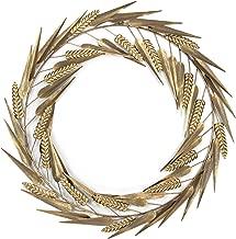 Habitat Laddies Gold Metal Wreath Wall Art,