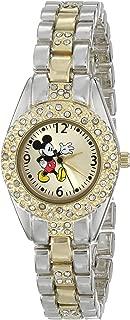 Disney Women's MK2056 Mickey Mouse Gold Sunday Dial Two-Tone Bracelet Watch