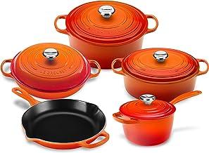 Le Creuset 9-piece Signature Cast Iron Cookware Set (Flame)