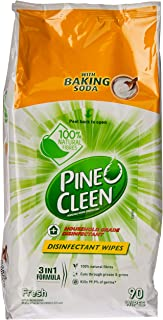 Pine O Cleen Multipurpose Disinfectant Wipes 3 in 1 with Baking Soda, 90 Wipes