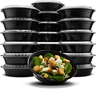 Paksh Novelty RND24OZ16PK Lunch Box Sets/Round Large Food Container with Lid for Meal Prep, Microwaveable, Freezer & Dishw...