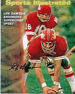 Autographed E.J. Holub Photo - KANSAS CITY CHIEFS SPORTS ILLUSTRATED COVER 8x10 - Autographed NFL Photos