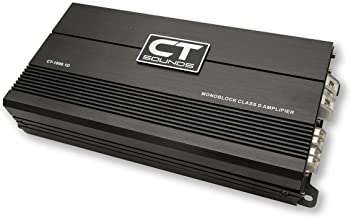 CT Sounds Car Audio Amplifier- Mosfet Power Supply, 1000 watts Power Capacity, 1Ohm Minimum Speaker Impedance, Monoblock D Class with Remote Volume Controller - CT1000 1D