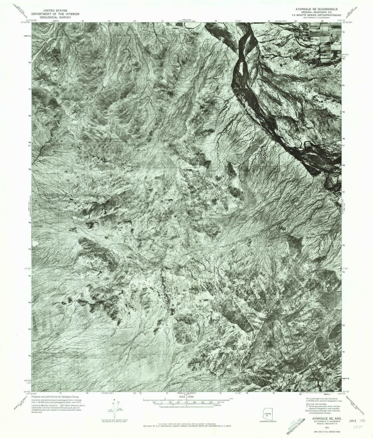 YellowMaps Avondale SE AZ topo map Large special price 7.5 Min X Scale Challenge the lowest price of Japan 1:24000