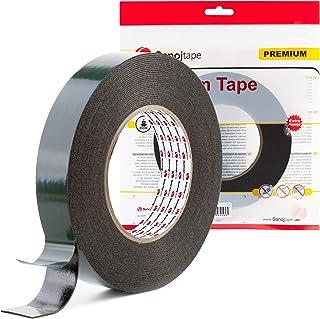 Sanojtape Ultra Sterke Zwarte Dubbelzijdige Tape 25mm x 10m | Ideale Permanente Montage Tape voor Automotive, Lijstwerk, L...