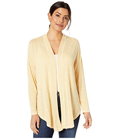 B Collection by Bobeau Cecile Tie Front Cardigan (Amber) Women