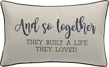 YugTex Pillowcases Embroidered And So together they built a life they loved Pillow Wedding gift Newlywed Wedding Home decor Housewarming gift Bedroom decor Lumbar Pillow (12