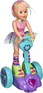 Fun Girl Figurine on a Motorized Wheeled Segway with Flashing Lights and Music by Dimple