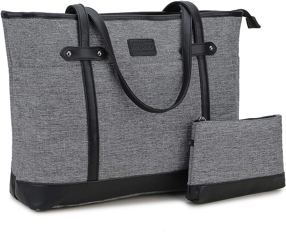 Ravuo, borsa da donna, porta personal computer piu` custodia piccola B08C4WL93P