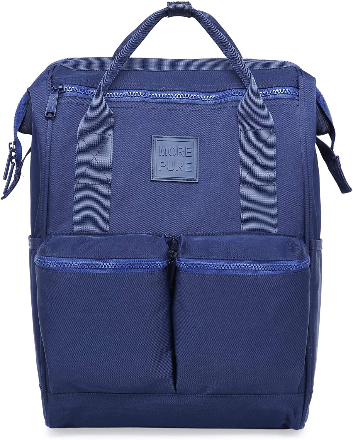 [HotStyle Basic Classic] 599s Vintage Denim Bookbag (1342 cu in) with 15.6inch Laptop Sleeve