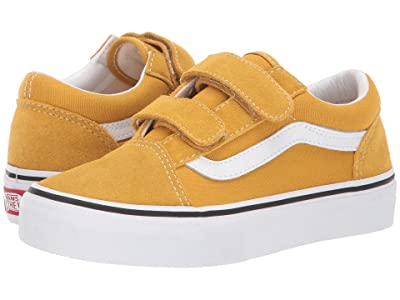 Vans Kids Old Skool V (Little Kid/Big Kid) (Arrowwood/True White) Boys Shoes