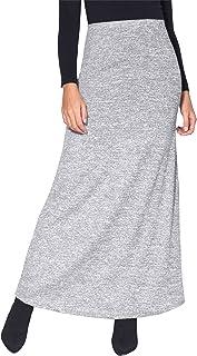 KRISP Falda Larga Mujer Boho Hippies Bohemia Elegante Vuelo Talla Grande Cintura Alta Elástica