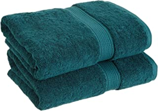 Superior 900 GSM Luxury Bathroom Towels, Made Long-Staple Combed Cotton, Set of 2 Hotel & Spa Quality Bath Towels - Teal, 30