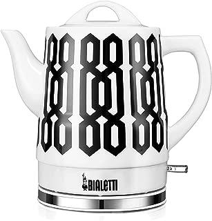 Bialetti (35027) 1.5 Liter Electric Ceramic Kettle, Trellis Pattern