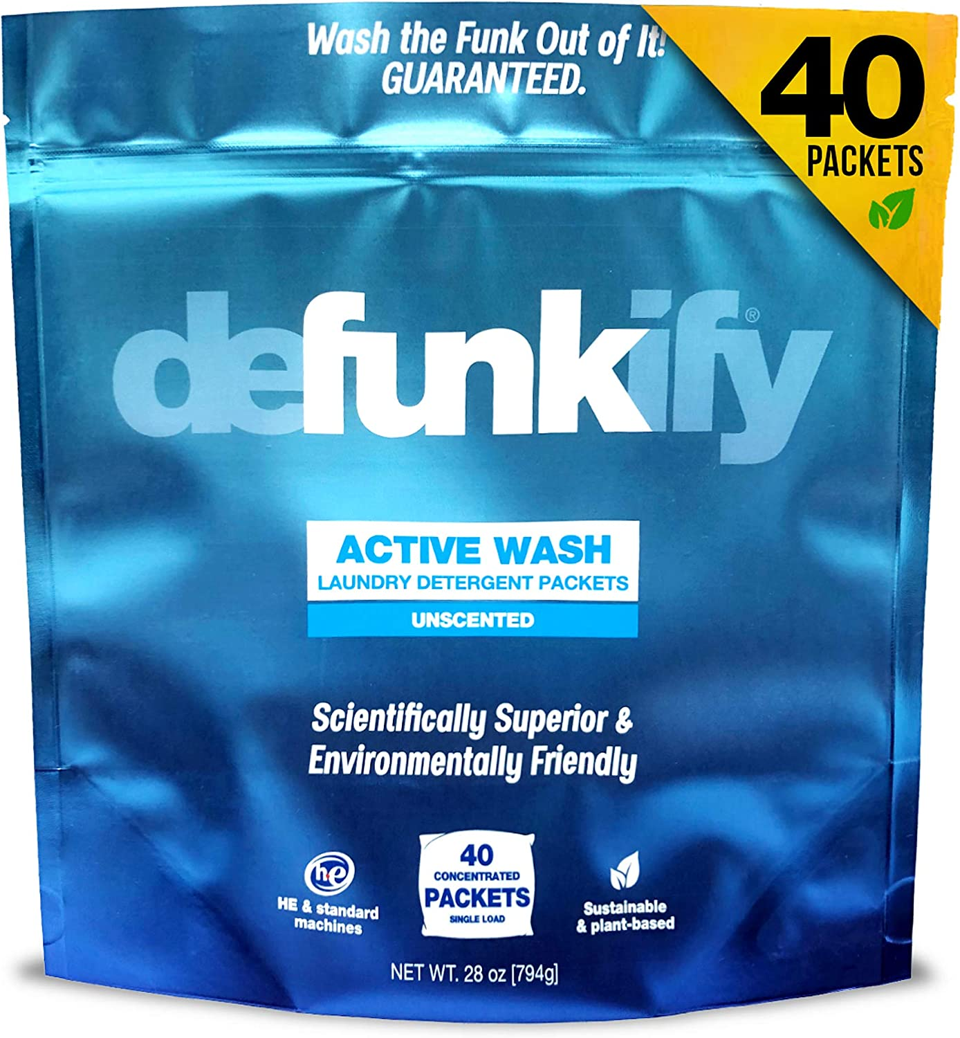 Defunkify Active OFFicial shop Wash Laundry Sustainable Powder Ranking TOP3 Pla Detergent