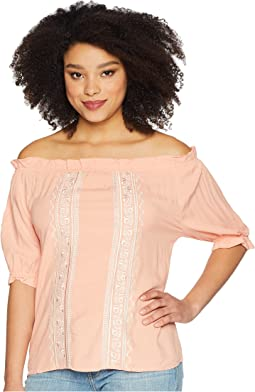 Rayon Off the Shoulder Top
