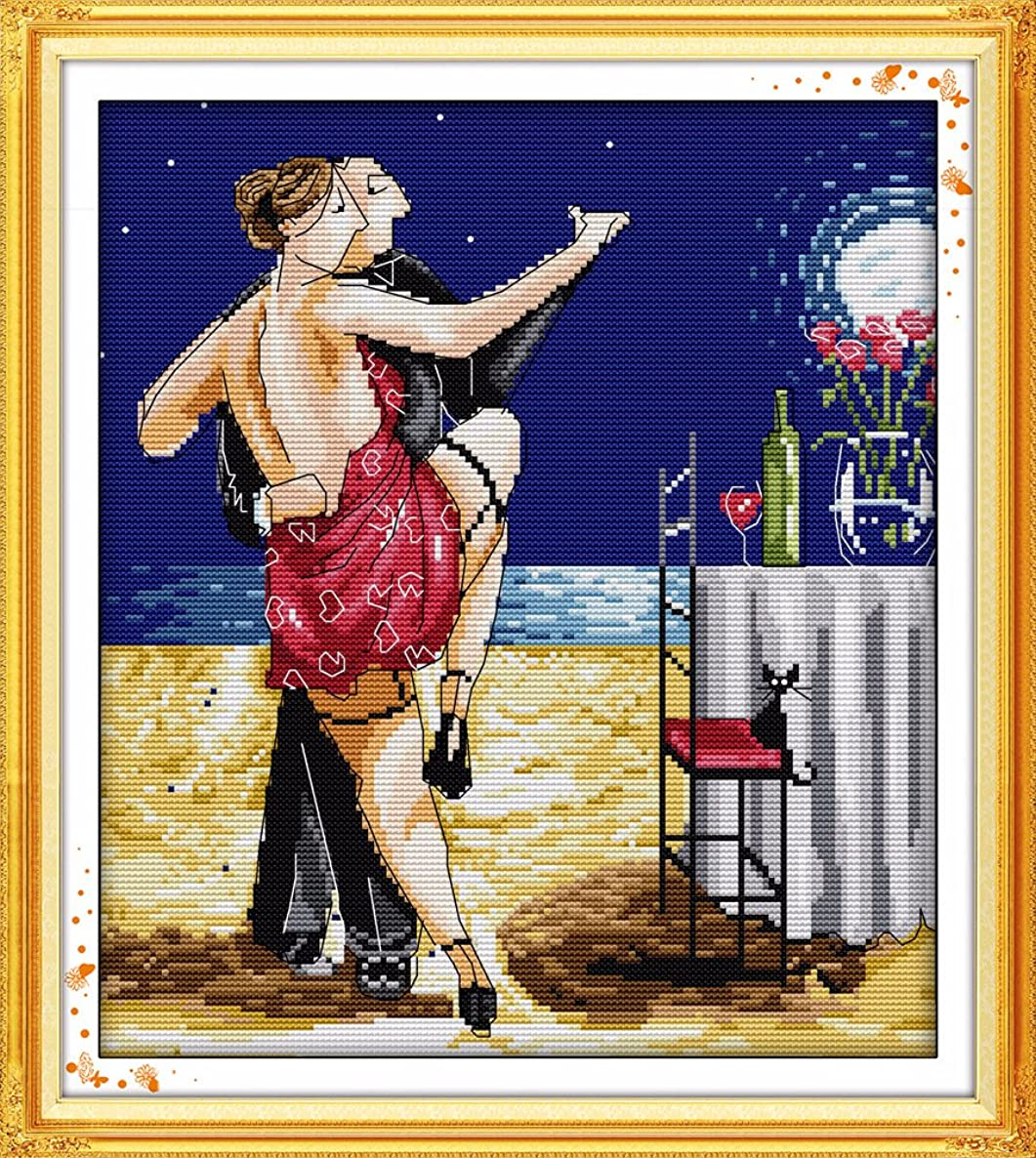 Joy Sunday Sewing Pattern Tango Couple Cross Stitch Kits Enjoy Life Style Cross-Stitch Sets DMC Hand Embroidery Kit 16''x18'' ryyxlwg235