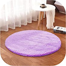 White Color Round Rug Carpet Living Room Carpet Kids Room Rugs Soft and Fluffy Warm, Custom Size, Diameter 60,80,100,160Cm,Purple,Diameter 140 cm